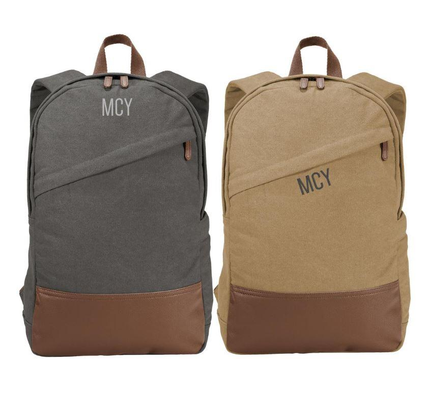 Embellish Classic Vintage Canvas Back Pack | Monogrammed