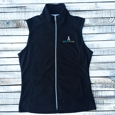 METAVIVOR LOGO Ladies Micro Fleece Vest in Five Colors
