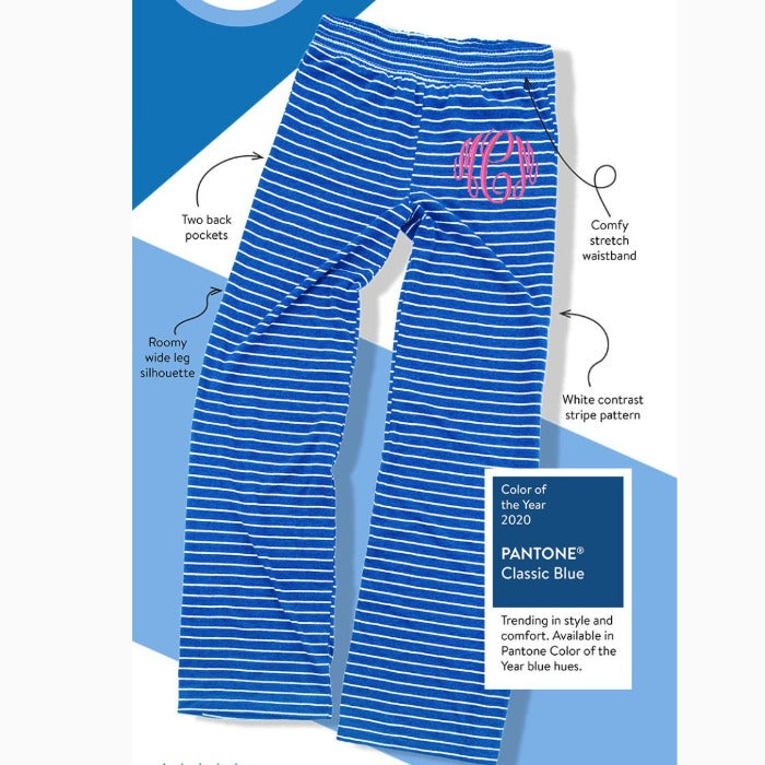 Embellish Cozy Striped Lounge Pants | Monogrammed