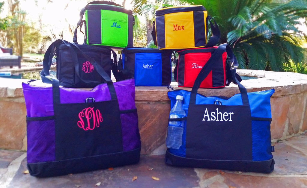 Embellish Large Personalized Beach Tote in Eight Colors