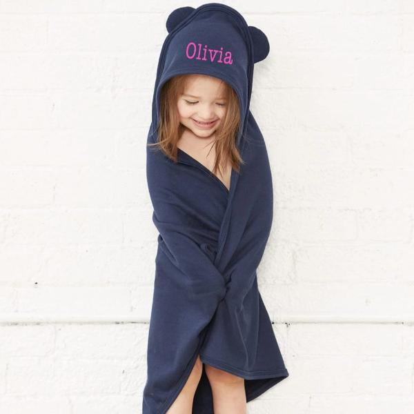 Embellish Childrens Hooded Terry Towel with Ears | Personalized