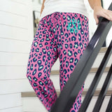 Embellish Every Day Pink Leopard Lounge Pants | Monogrammed
