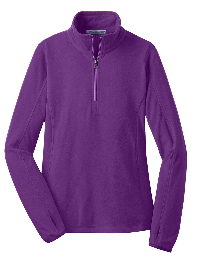 Monogrammed Fleece Pullover in Purple