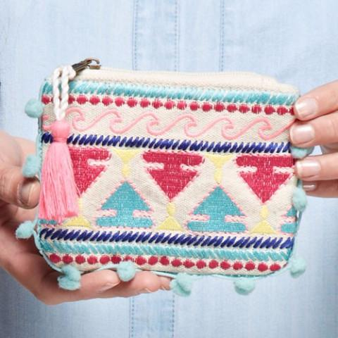 Pom Pom Waves Artisan Mini Tassel Pouch