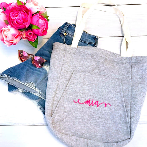 Embellish Every Day Soft Cozy Sweatshirt Tote | Monogrammed