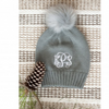 Embellish Cozy Knit Pom Beanie Hat | Monogrammed | QUICK SHIP