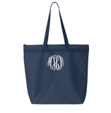 Embellish Oversized Zipper Tote in 16+ Colors | Personalized