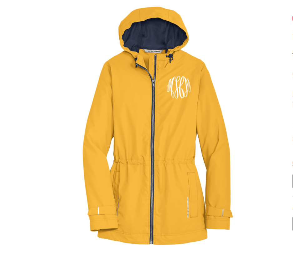Embellish All Weather Hooded Jacket  | Monogrammed