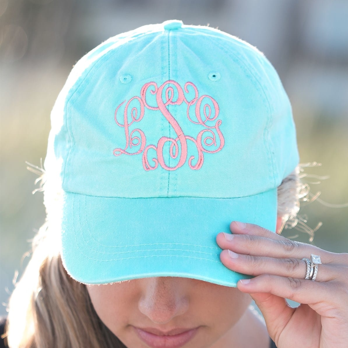 Embellish Pigment Wash Ball Caps | Monogrammed