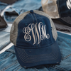 Embellish NEW Distressed Wash Trucker Ball Caps | Monogrammed | QUICK SHIP