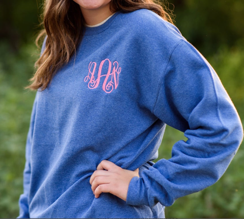 Embellish Adult Heather Sweatshirt | Monogrammed