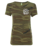 Embellish Ladies Fit Stylish Camo Tee | Monogrammed | promo code: LOVEADEAL