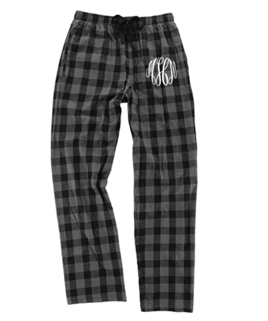 Embellish Every Day Flannel Lounge Pants | Monogrammed