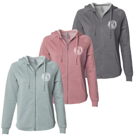 Embellish Soft Fleece Full-Zip Hooded Jacket | Monogrammed