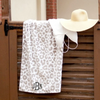 Embellish Summer Fun Cotton Beach Pool Towel  | Monogrammed | Natural Leopard