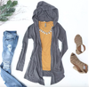 Embellish Ladies Triblend Hooded Everyday Cardigan | Monogrammed