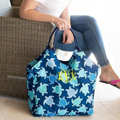 Embellish Oversize Turtle Bay Print Beach Tote | Monogrammed