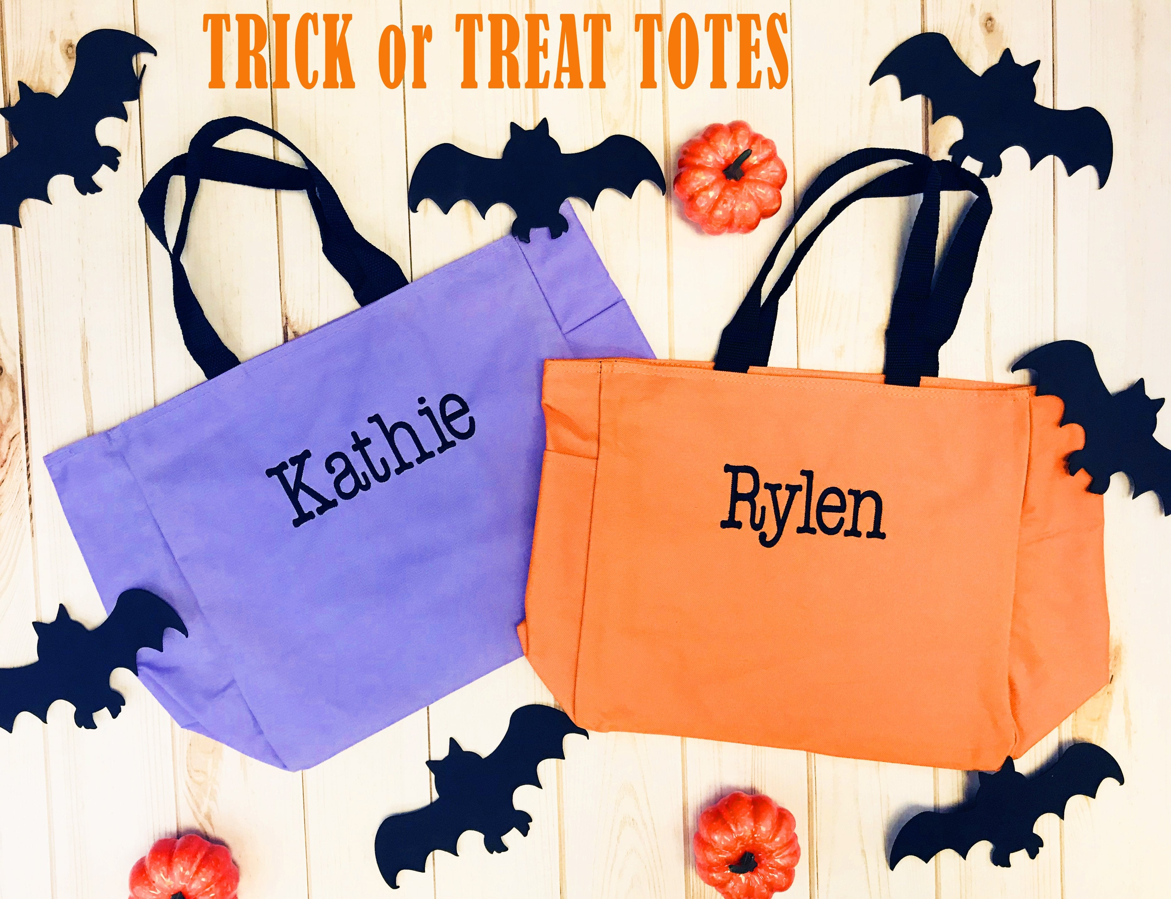 Embellish Trick or Treat Tote Bag | Personalized