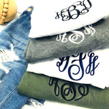 Embellish Classic Super Soft Unisex V-Neck Tee | Monogrammed | QUICK SHIP