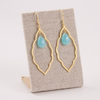 Gold Chalcedony Drop Earring