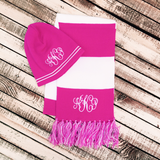 Personalized Classic Stripe Knit Beanie Hat | QUICK SHIP