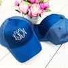 Two Tone Royal Breathable Cap | Monogrammed
