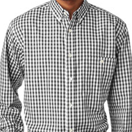 Classic MENS's Monogrammed Gingham Oxford