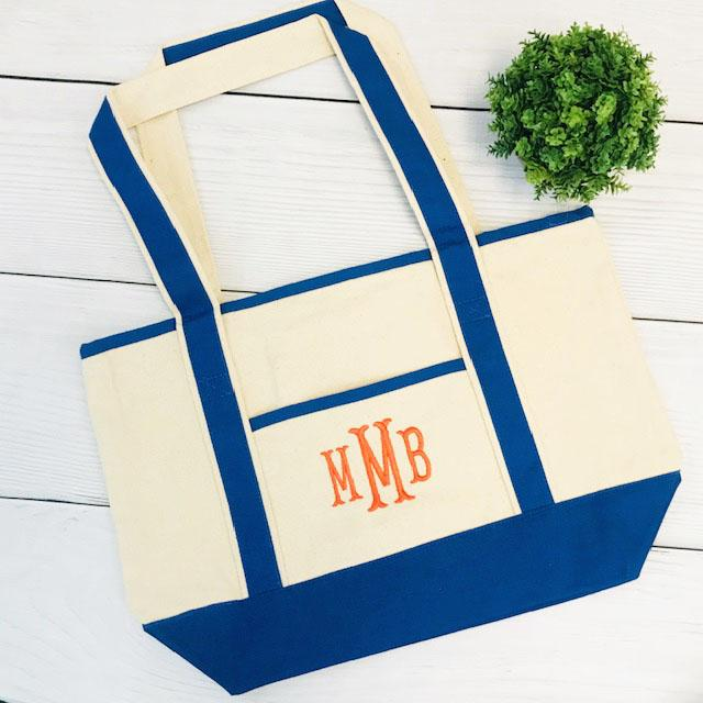 Embellish Classic Cotton Canvas Tote | Monogrammed