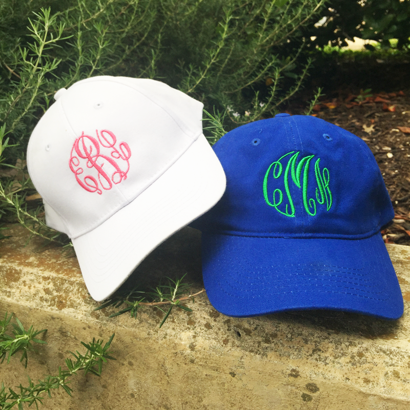 c03d57cb2 TWO Classic CUSTOM Monogram Caps | Over 20 colors | Adult or Youth