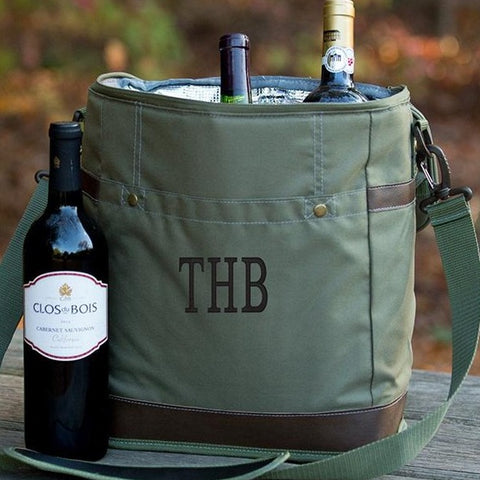 Embellish Insulated Growler/ WIne Bottler Cooler Bag  | Monogrammed
