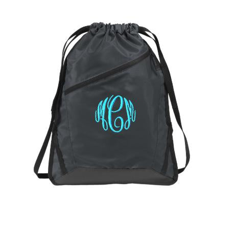 Embellish Every Day Cinch Back Pack I Monogrammed | QUICK SHIP