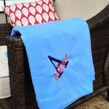 Monogrammed Blanket  Embellish Accessories and Gifts