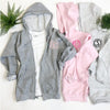 Embellish Full-Zip Hooded Sweatshirt Jacket | Monogrammed