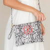 Embellish Chic Vegan Leather Snakeskin Purse | Monogrammed | QUICK SHIP