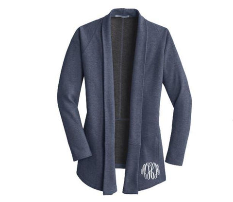 Embellish Ladies Cozy Interlock Everyday Cardigan Sweater | Monogrammed