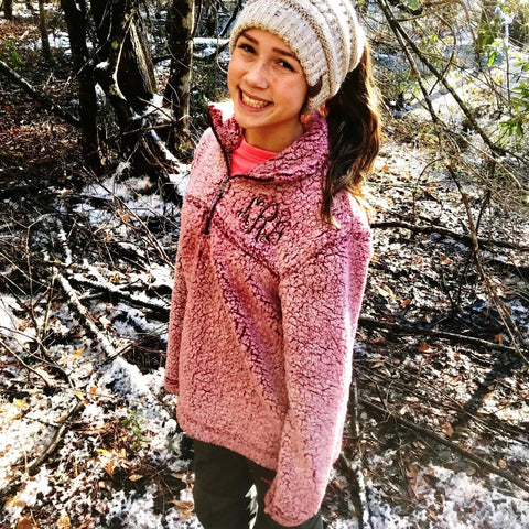 Embellish Custom YOUTH Cozy Sherpa Pullover | Monogrammed