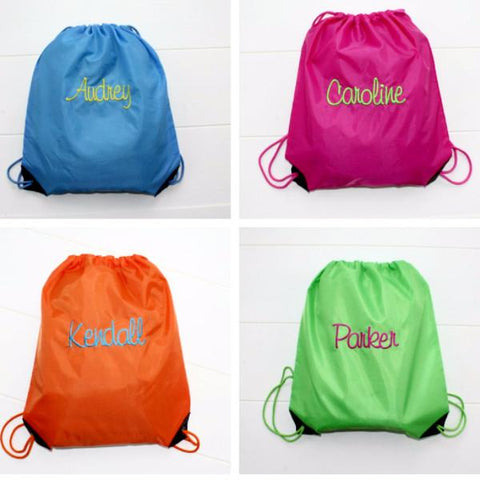 Embellish Personalized Cinch Back Pack In 15 Colors