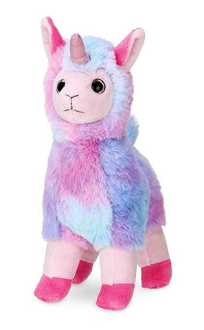 Embellish Plush Purple Rainbow Unicorn Llama