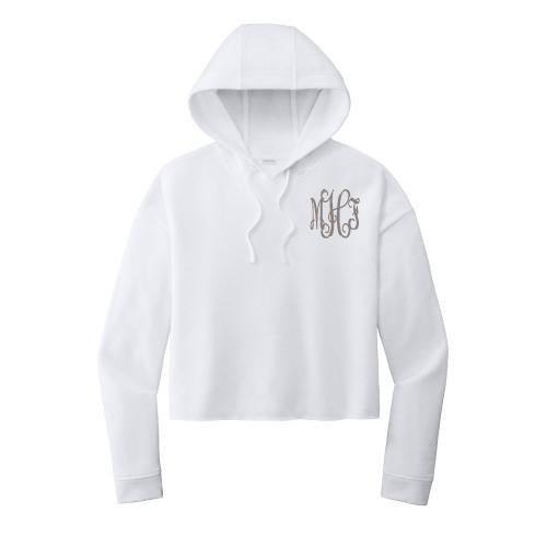 Embellish Cozy Lounge Cropped Hoodie Pullover | Monogrammed