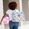 Embellish Bright Leopard Print Carry All Tote | Monogrammed