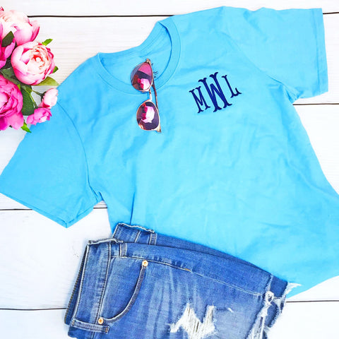 Embellish Classic Short Sleeve Cotton T-Shirt All Sizes | Monogrammed | QUICK SHIP