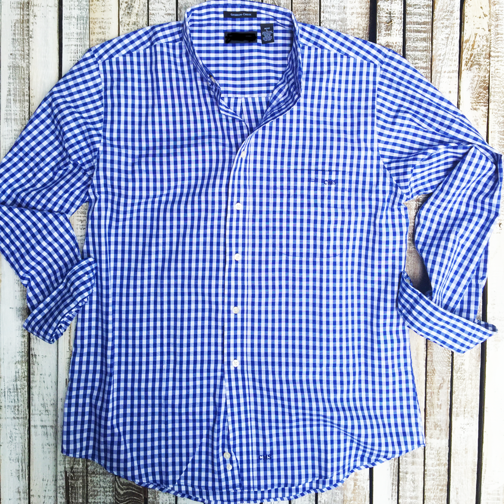Monogrammed Mens Gingham Shirt Embellished Accessories And Gifts