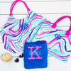 Embellish Aqua Swirl Print Carry All Tote | Monogrammed