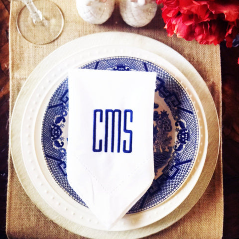 Monogram Dinner Napkins | Set of Four