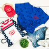Embellish Ladies Fine Jersey Patriotic Star Tee | Monogrammed