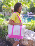 Canvas Tote Bag, Pink