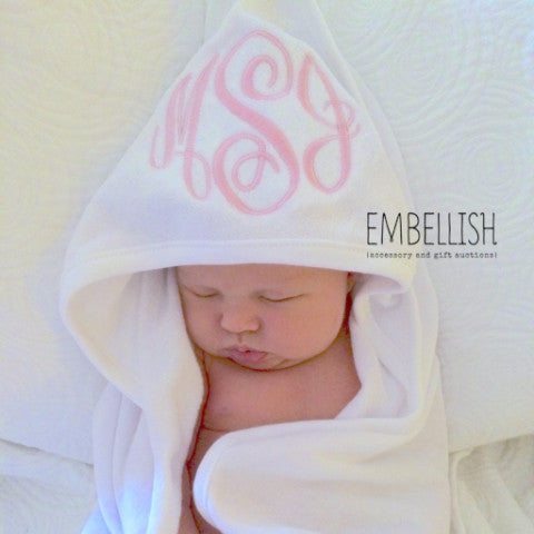 Embellish Custom Monogrammed Infant Hooded Towel