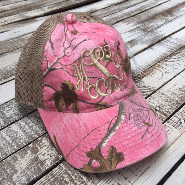 Pink Realtree Camo Mesh Trucker Cap | Personalized