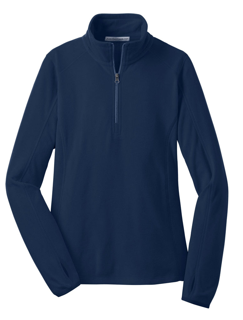 Monogram Fleece Pullover in Navy