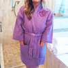 Monogram Bathrobe, Purple